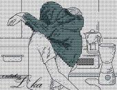 Схема для вышивки крестом Кухонная парочка