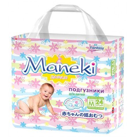 Maneki Подгузники детские одноразовые Fantasy МИНИ, размер M, 6-11 кг, 24 шт./упак