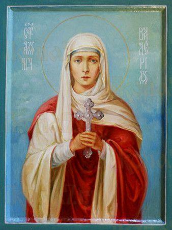 Валерия Кесарийская (рукописная икона)