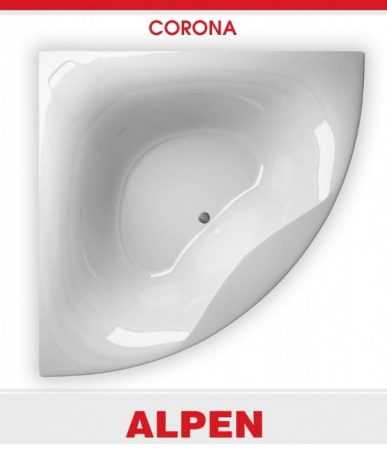 Акриловая ванна Alpen Corona 150x150 без гидромассажа