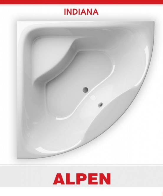 Акриловая ванна Alpen Indiana 140x140 без гидромассажа