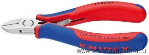 Кусачки боковые (Кусачки диагональные, БОКОРЕЗЫ)  для электроники KNIPEX 77 02 130