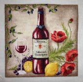 Схема для вышивки крестом Vine riserva Red. Отшив