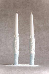 Свеча Родительская пара «Два Ангела» (голубой)