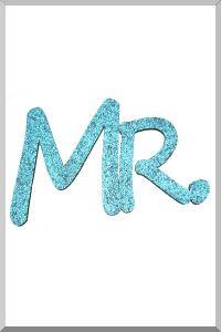 Слова для фотосессий MR и MRS (голубой) (Ш:13 Д:25)