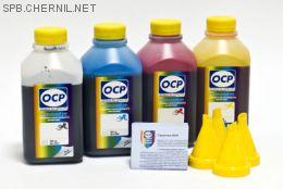 Чернила OCP для принтера HP B010b, B110, 3070A, 5510, 7000 (BKP249, C143, M143, Y143), картриджи HP 178, HP 121, HP 920, комплект 500 гр. x 4