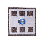 Zamel Кнопка звонка декоративная квадратная  PDK-251
