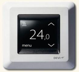 Терморегулятор для теплого пола Devi  DEVIreg Touch с комбинацией датчиков (программируемый с сенсорным экраном)
