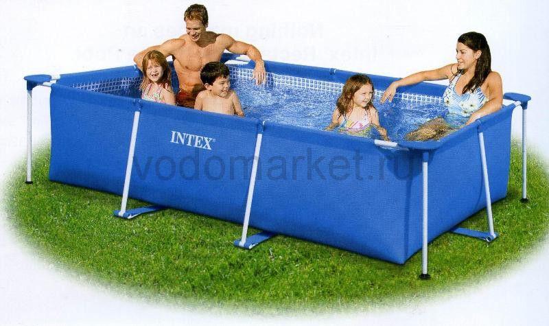 220х150х60см (28270) Каркасный бассейн прямоугольный INTEX