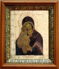 Донская икона БМ (19х22), светлый киот