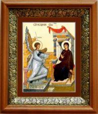 Благовещение Пресвятой Богородицы (19х22), светлый киот