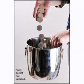 Специальные монеты для фокуса с монетным ведром (22 шт) (с обучением на DVD)