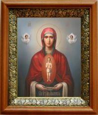 Албазинская икона БМ (19х22), светлый киот