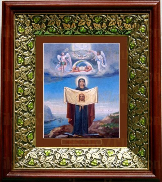 Порт-Артурская икона БМ (21х24), киот со стразами
