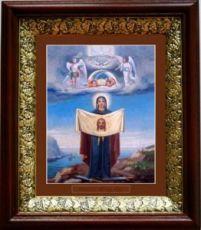 Порт-Артурская икона БМ (19х22), темный киот