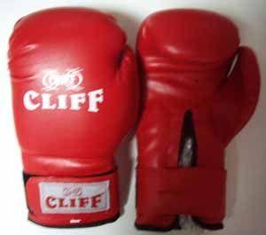 Перчатки боксерские CLIFF, липучка,  AMERICAN STAR DX, 8 унц., красные