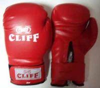 Перчатки боксерские CLIFF, липучка,  AMERICAN STAR DX, 12 унц., красные