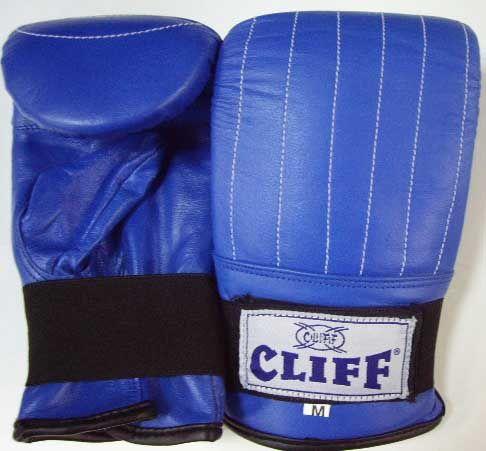 Перчатки  снарядные CLIFF,  кожа, синие