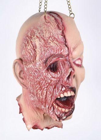 Голова с полуобожженным лицом