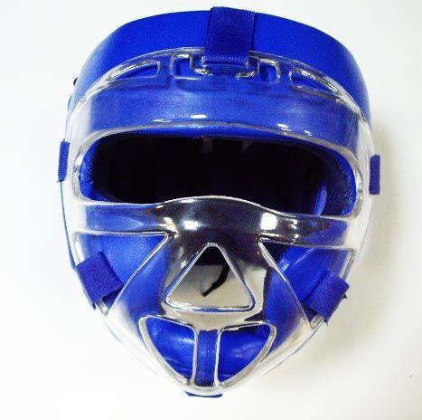 Шлем маска CLIFF, кожа, синий, размер XL, Пакистан