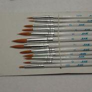 3692-Набор кистей из синтетического волоса, 12 шт. (№ 0000, 000, 00, 0, 1, 2, 3, 4, 5, 6, 7, 8)