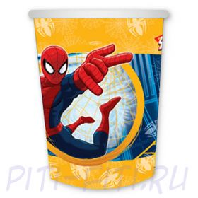 Стакан бумажный Человек-Паук, 6 штук