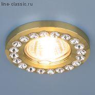 Точ/светильник ES 8331 MR16 GD/Clear золото/прозрачный