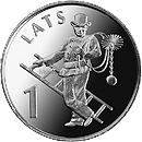Латвия 1 лат 2008 Трубочист