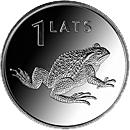 Латвия 1 лат 2010 Жаба