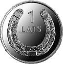 Латвия 1 лат 2010 Подкова вверх