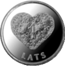 Латвия 1 лат 2011 Пряничное сердце