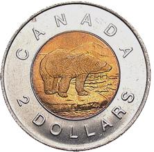 Канада 2 доллара 1998 Медведь