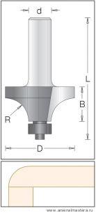Концевая радиусная кромочная фреза DIMAR 1590039