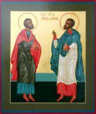 Икона Косьма и Дамиан (рукописная)