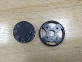 Эл_Ручка терморегулятора (50-300С) с пласт.планкой  арт.001.872, ,