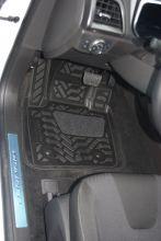 Коврики в салон, Aileron, 3D полиуретановые черные, с бортиками
