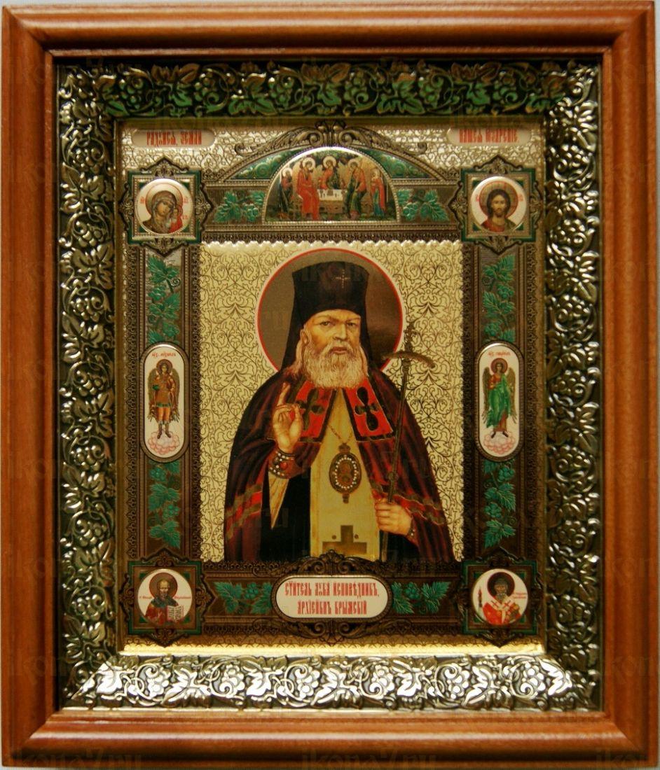 Лука Крымский (19х22), светлый киот