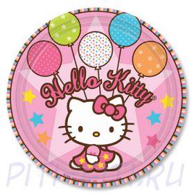 Тарелка Hello Kitty, 17 см, 8 штук