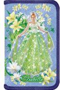 """Пенал 1 секционный школьный """"Принцесса цветов"""" ламинат,"""