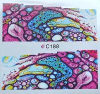 Водная наклейка для дизайна ногтей С 188