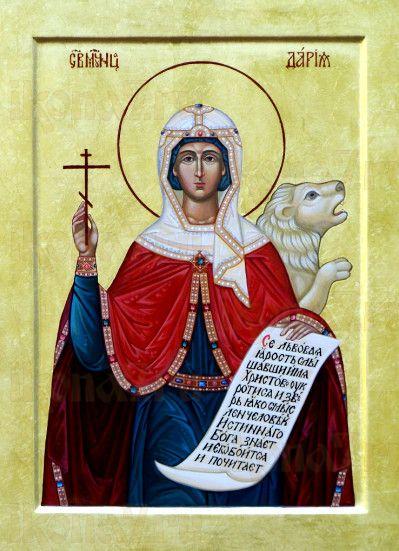 Дарья Римская (рукописная икона)