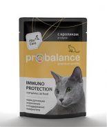 ProBalance Adult Immuno Protection Корм для кошек с кроликом в соусе (85 г)