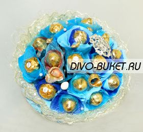 """Букет из конфет №489 """"Нептун"""""""