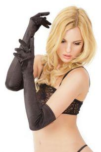 Черные атласные перчатки