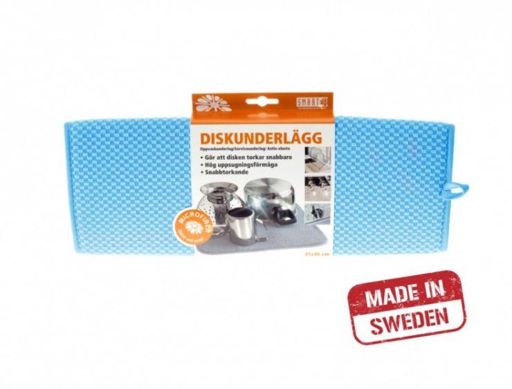 Smart Microfiber Коврик для посуды 41х46 см (синий)