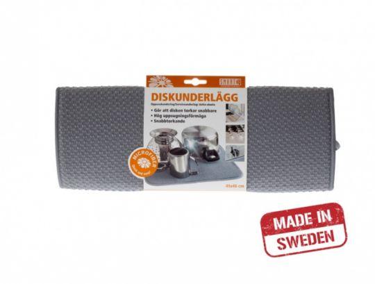 Smart Microfiber Коврик для посуды 41х46 см (серый)