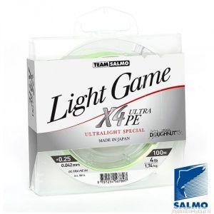 Купить Леска плетеная Salmo Team Light Game Fine Green X4 (100м)