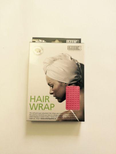 Smart Microfiber Тюрбан вафельный для сушки волос розовый