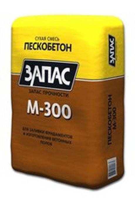 """Сухая смесь пескобетон М 300 КРЕПЦЕМ """"ЗАПАС"""""""