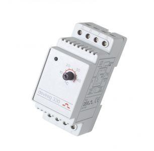 Терморегулятор для теплого пола Devi D-330, +5°C-+45°C с датч. на проводе. Установка на шину DIN.